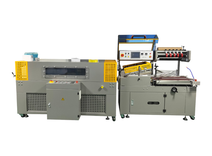 PKE-4050Q+PR-4020B Automatic L-shaped bagging, sealing and shrinking machine